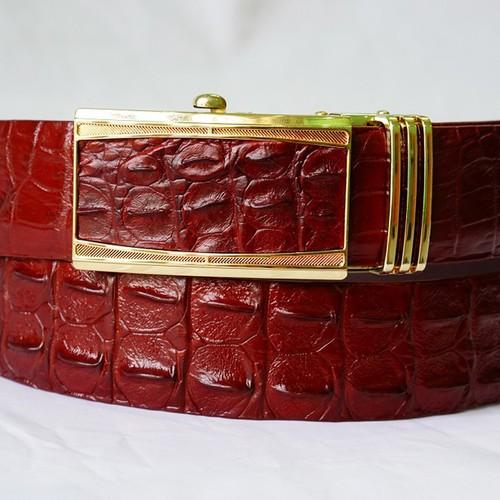 Thắt lưng da cá sấu - màu nâu đỏ 3.5f - tlcs001-ndo3.5f