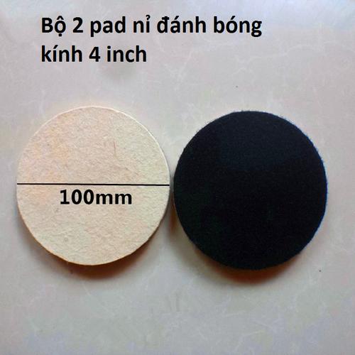 Pad nỉ đánh bóng kính 4 inch