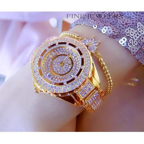 Đồng hồ nữ BS BEE SISTER 0917 Đính Đá Siêu Đẹp + Tặng Hộp & Pin
