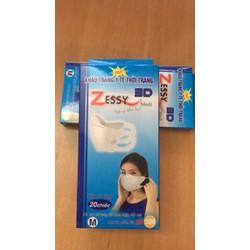 Khẩu trang y tế 3D Zessy người lớn M 20c_nhập khẩu