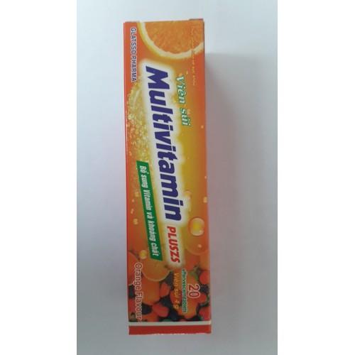 viên C sủi Multivitamin vị cam  tuyp 20 viên