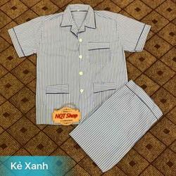 Bộ Pijama Cộc Tay Nam Trung Niên - Pyjama Ông Già