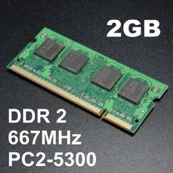 Ram laptop DDR2 -PC2 2GB bus 667 - 5300s, chính hãng, bảo hành 1 năm