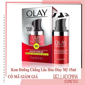 Kem Dưỡng Olay Regenerist Micro-Sculpting Advance Anti-Aging Cream SPF30 15ml - OLAY.DO.VOI.15ML