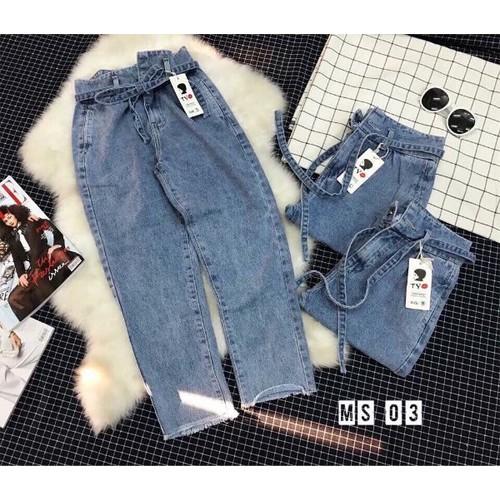 Quần baggy jean nữ có dây thắt lưng - 11957805 , 19534536 , 15_19534536 , 165000 , Quan-baggy-jean-nu-co-day-that-lung-15_19534536 , sendo.vn , Quần baggy jean nữ có dây thắt lưng