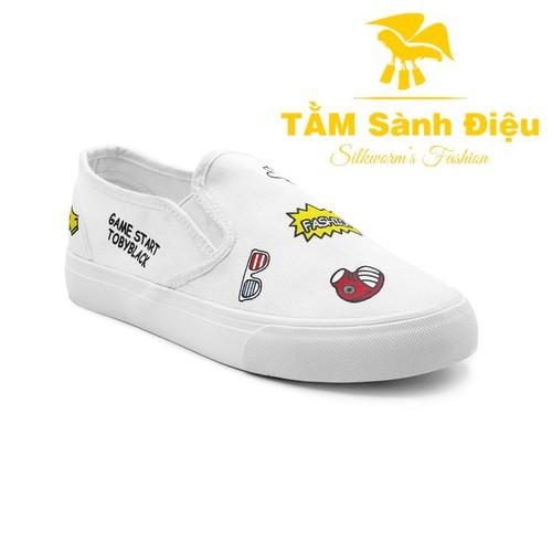 Slip on nữ - Giày lười nữ - Giày mọi nữ TSD S0767 bằng vải đế bệt 8655 - đế thấp màu trắng - đế bằng họa tiết hoạt hình - 11187782 , 19522641 , 15_19522641 , 320000 , Slip-on-nu-Giay-luoi-nu-Giay-moi-nu-TSD-S0767-bang-vai-de-bet-8655-de-thap-mau-trang-de-bang-hoa-tiet-hoat-hinh-15_19522641 , sendo.vn , Slip on nữ - Giày lười nữ - Giày mọi nữ TSD S0767 bằng vải đế bệt 86
