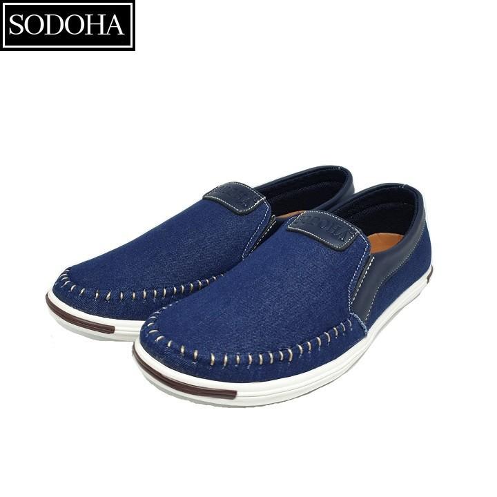 Giày Lười Thời Trang Nam SODOHA SDH5599 Màu Xanh 4