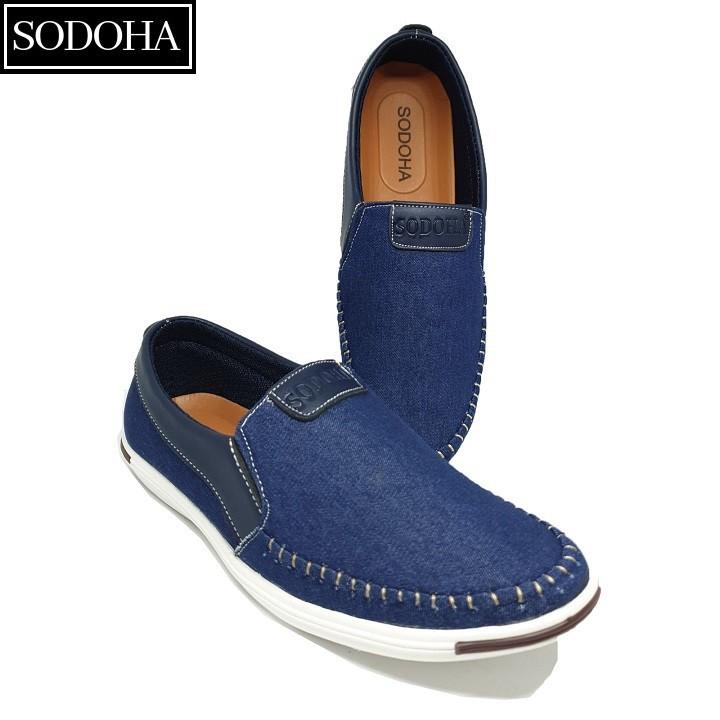 Giày Lười Thời Trang Nam SODOHA SDH5599 Màu Xanh 1