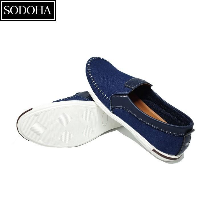 Giày Lười Thời Trang Nam SODOHA SDH5599 Màu Xanh 5