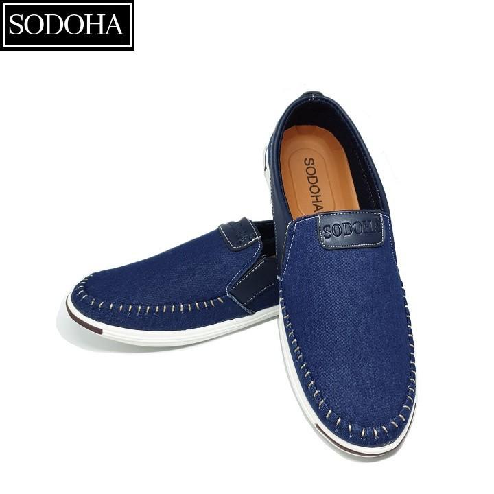 Giày Lười Thời Trang Nam SODOHA SDH5599 Màu Xanh 2