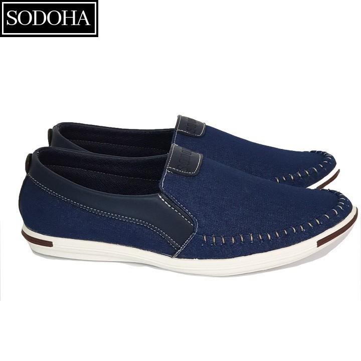 Giày Lười Thời Trang Nam SODOHA SDH5599 Màu Xanh 6