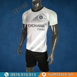 Bộ quần áo đá bóng Chelsea bạc - Đồ đá banh 2019