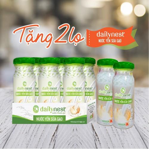 Combo 6 lọ nước yến sữa gạo dailynest tặng 2 lọ nước yến sữa gạo - 11955180 , 19530449 , 15_19530449 , 247000 , Combo-6-lo-nuoc-yen-sua-gao-dailynest-tang-2-lo-nuoc-yen-sua-gao-15_19530449 , sendo.vn , Combo 6 lọ nước yến sữa gạo dailynest tặng 2 lọ nước yến sữa gạo