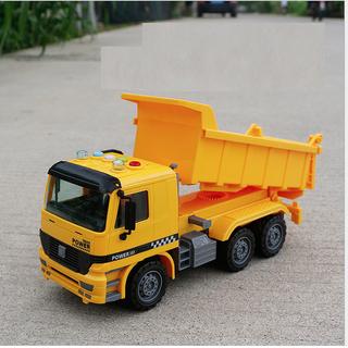 Xe tải đồ chơi trẻ em màu vàng chạy đà có âm thanh và đèn tỉ lệ 1 16 - TAI116 thumbnail