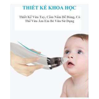 [FREE SHIP] Máy Hút Mũi Tự Động Thông Minh Dành Cho Bé Loại sạc điện tặng dụng cụ ráy tai có đèn - máy hút mũi cho bé thumbnail