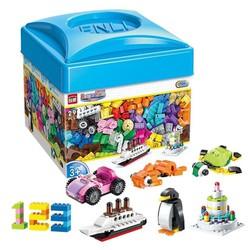 Đồ chơi xếp hình Bộ xếp khối sáng tạo mô hình 460 chi tiết - Hộp nhựa mã Enli2901