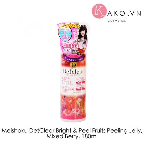 Tẩy da chết meishoku detclear bright and peel fruits peeling jelly, mixed berry, 180ml - 11965753 , 19546740 , 15_19546740 , 280000 , Tay-da-chet-meishoku-detclear-bright-and-peel-fruits-peeling-jelly-mixed-berry-180ml-15_19546740 , sendo.vn , Tẩy da chết meishoku detclear bright and peel fruits peeling jelly, mixed berry, 180ml