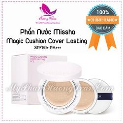 Phấn Nước Kiềm Dầu Missha Magic Cushion Cover Lasting SPF50+ PA+++ - Tone 21 Màu Sáng - Chính Hãng Hàn Quốc