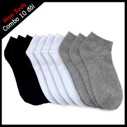[RẺ VÔ ĐỊCH] COMBO 10 đôi tất cổ ngắn, chất co giãn thông hơi