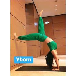 Bộ tập yoga múa bụng zumba nữ dáng Alibaba
