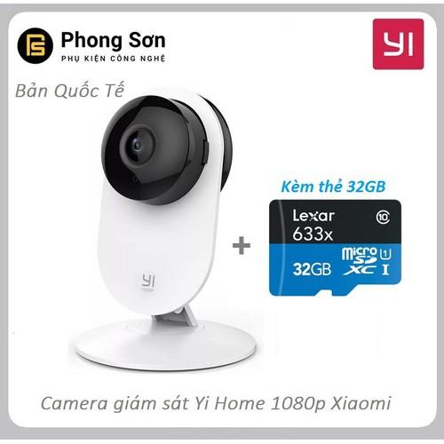 Camera quan sát yi home 1080p ip wifi bản quốc tế yys.2016, kèm thẻ 32gb , sản phẩm nhà phân phối chính hãng