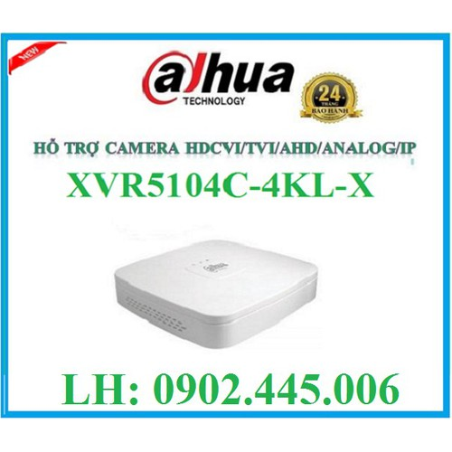 ĐẦU GHI HÌNH HỖ TRỢ CAMERA 4K CHUẨN NÉN H.265, XVR5104C-4KL-X