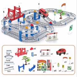 Bộ Ô TÔ ĐƯỜNG RAY 90 chi tiết Đồ chơi lắp ráp đường đua ô tô hay nhất hiện nay dc2497