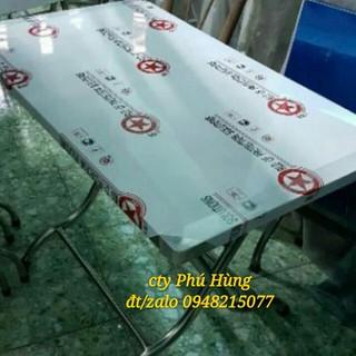 BÀN VUÔNG INOX LOẠI CAO 1M20X70X70 - CAO 1M12X 70 thumbnail