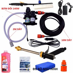 Máy rửa xe mini - Máy bơm nước mini 12v - 150w cực mạnh