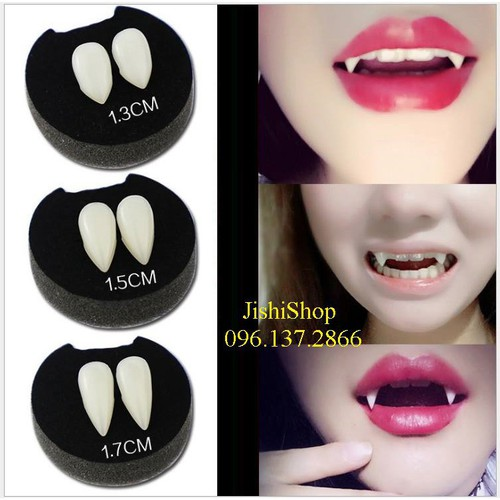 Răng giả hóa trang ma cà rồng răng nanh răng khểnh pro
