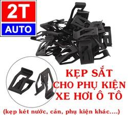 Bộ 10 Kẹp sắt, nẹp sắt để gắn lắp phụ kiện cho xe hơi ô tô