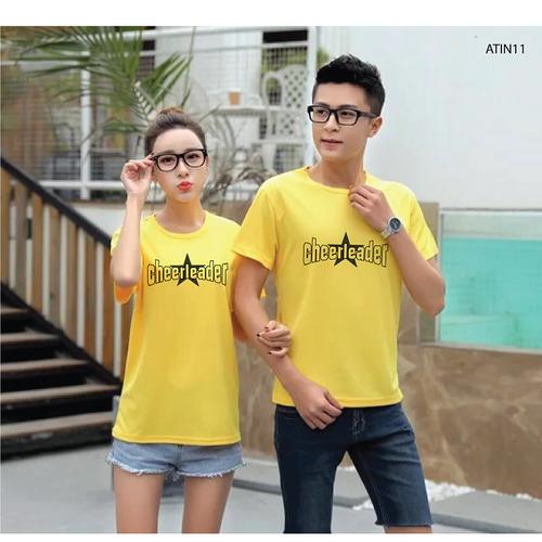 [Hot cực hot]áo thun nam nữ in họa tiết chữ cheerleader siêu hot đủ màu đủ size - atin11