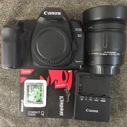 Máy ảnh Canon 5D mark II kém lens canon 35 80 usm