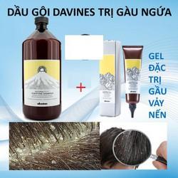 Combo dầu gội và gel trị gàu ngứa da đầu Davines Purifying Anti Dandruff