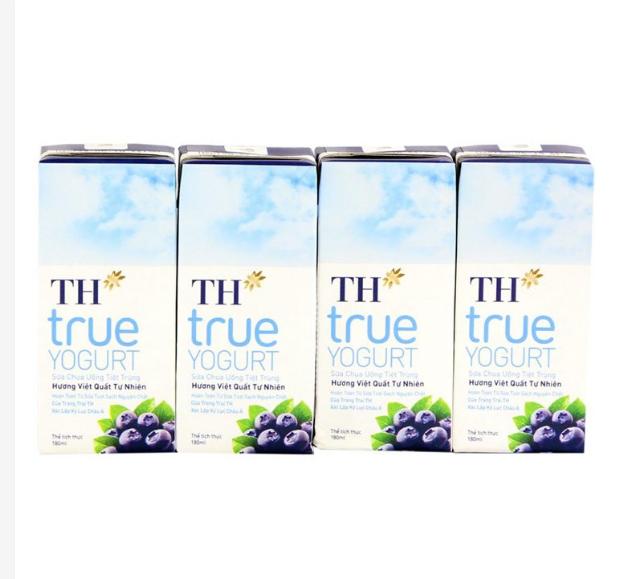 Lốc Sữa TH True Yogurt Top Kid việt quất 4 hộp x 180ml