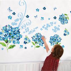decal dán tường cẩm tú xanh