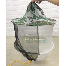 Mũ lưới nuôi ong - Mũ bảo hộ chống côn trùng đốt - mũ nuôi ong 40cm