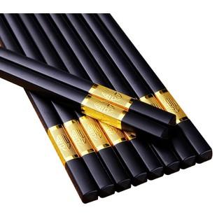 Hộp 10 Đôi Đũa Hợp Kim Viền Vàng Hàn Quốc - D5504 thumbnail