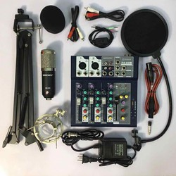 Chọn Bộ Thu Âm Mixer Yamaha F4 usb bluetooth-Mic BM900 kèm phụ kiện tặng tai nhét loại tốt bh 6 tháng