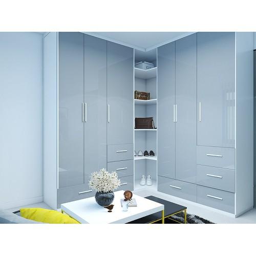 Thiết kế & thi công mẫu tủ quần áo gỗ đẹp hiện đại căn hộ chị linh
