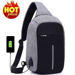[ XẢ KHO ] Túi Đeo Chéo Nam cao cấp có cổng sạc USB, thiết kế chống trộm - BL15