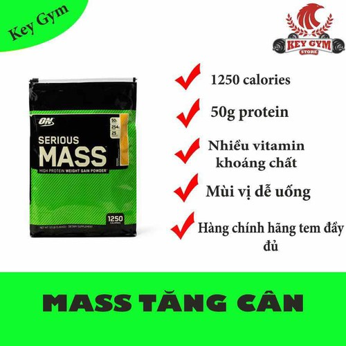 ON- Serious Mass 12lbs - Sữa tăng cân bán chạy