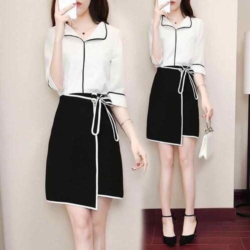 Set váy nữ cao cấp thiết kế phối 2 màu đen trắng nổi bật - 11973247 , 19558863 , 15_19558863 , 490000 , Set-vay-nu-cao-cap-thiet-ke-phoi-2-mau-den-trang-noi-bat-15_19558863 , sendo.vn , Set váy nữ cao cấp thiết kế phối 2 màu đen trắng nổi bật