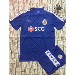Quần áo bóng đá Hà Nội FC trẻ em xanh