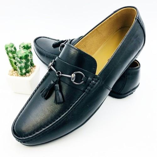 DA BÒ THẬT - Giày lười nam da bò thật bảo hành da 1 năm