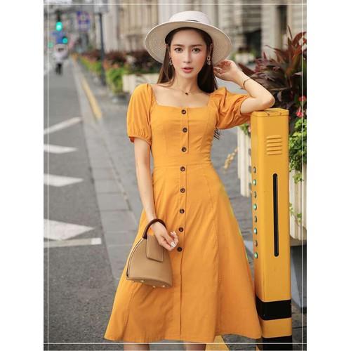 Đầm Xòe Phối Nút Siêu Việt T&T Fashion - SVTCS4753
