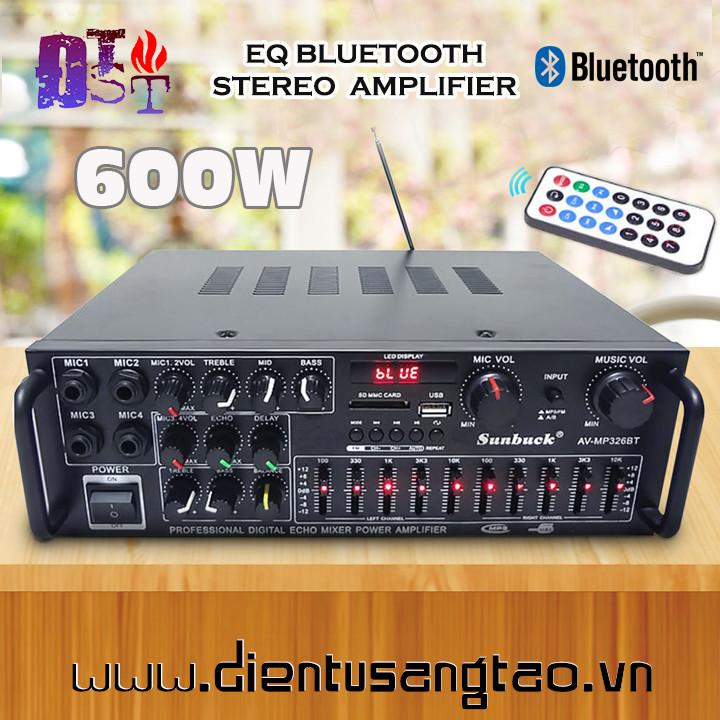 Amply 220V-12V Bluetooth Sunbuck 326BT