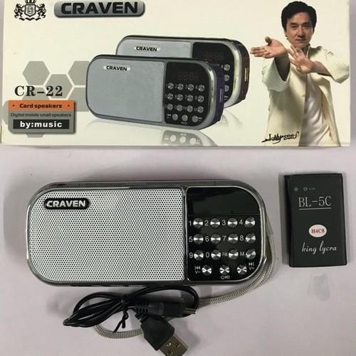 Loa nghe nhạc đa năng  USB thẻ nhớ đài radio FM Craven CR22 - 11834228 , 19569285 , 15_19569285 , 125000 , Loa-nghe-nhac-da-nang-USB-the-nho-dai-radio-FM-Craven-CR22-15_19569285 , sendo.vn , Loa nghe nhạc đa năng  USB thẻ nhớ đài radio FM Craven CR22