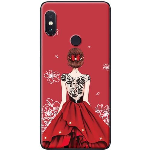 Ốp lưng nhựa dẻo xiaomi mi a2 mẫu váy đỏ ren lưng