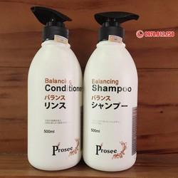 BỘ DẦU GỘI XẢ PROSEE BALANCING Dành cho tóc dầu, tóc gàu và hay rụng tóc